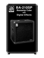 BA-210SP Bassamp Cube with Digital Effects - Ampeg
