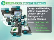 Design and Modeling of High Speed High Density 3D CSP ...