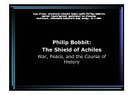 Philip Bobbit: The Shield of Achiles