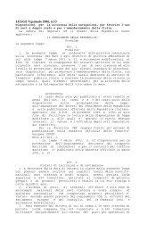 legge 9 gennaio 06 disposizioni sicurezza - Trasporti