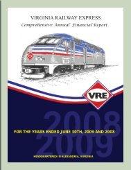 2009 Audited Financial Statement - Virginia Railway Express