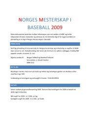 PÃ¥meldming(PDF) - Norges Softball og Baseball-Forbund