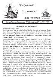 Pfarrgemeinde St. Laurentius - St. Laurentius Gaggenau