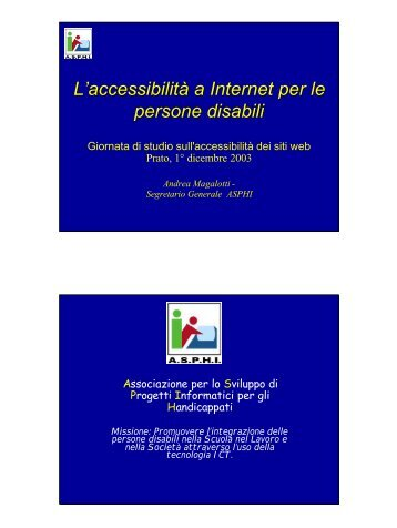 in formato pdf - Web senza barriere