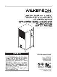 OWNER/OPERATOR MANUAL - Wilkerson Corporation