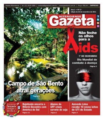Ano 1 • Nº 17 Edição de 26 de novembro de 2011 - Gazeta ...