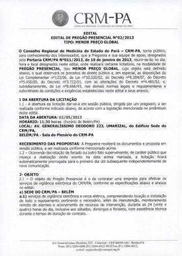 CRM-PA - Conselho Regional de Medicina do Estado do Pará