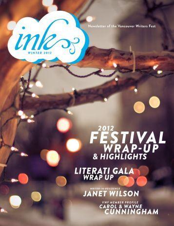 Ink - Winter 2012 - Vancouver International Writers Festival