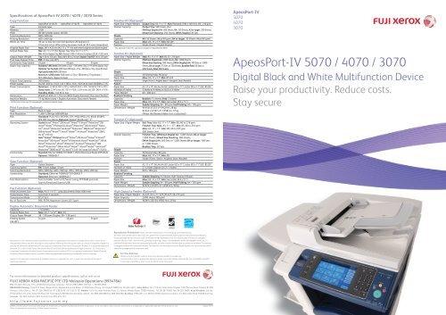 ApeosPort-IV 5070/4070/3070 - Fuji Xerox Malaysia