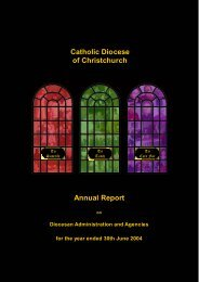 2004 Diocesan Annual Report.pdf - Catholic Diocese of Christchurch
