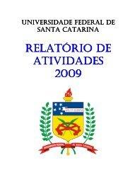 Relatório de Atividades - 2009 - Pós-Graduação - UFSC