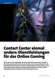 Dienstleistungen für das Online Gaming - Callcenter-Profi
