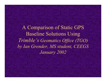 Analysis of data processing techniques with Geomatics Office