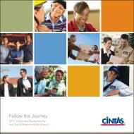2011 Corporate Sustainability and Social Responsibility ... - Cintas