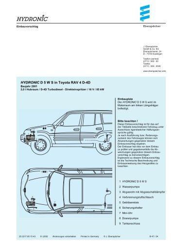 HYDRONIC D 5 W S in Toyota RAV 4 D-4D
