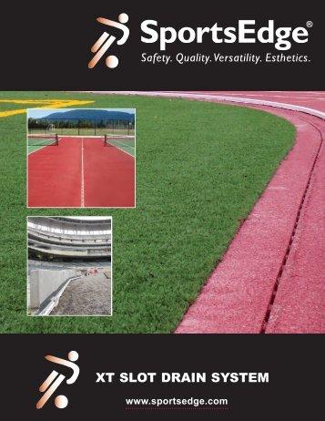sportsedge® xt slot drain system