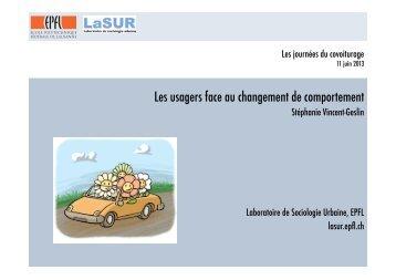 Les usagers face au changement de comportement LASUR ... - Certu