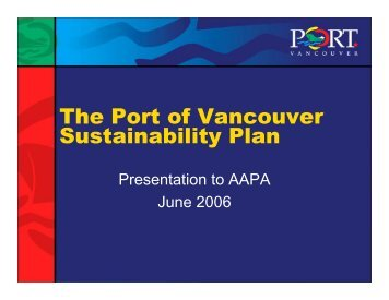 The Port of Vancouver Sustainability Plan - staging.files.cms.plus.com