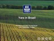 Yara in Brazil