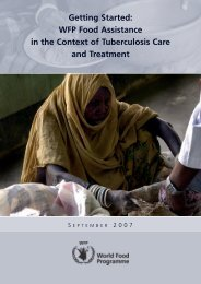 Getting Started: WFP Food Assistance in the Context of Tuberculosis ...