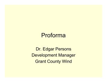 Proforma - Clean Energy Resource Teams