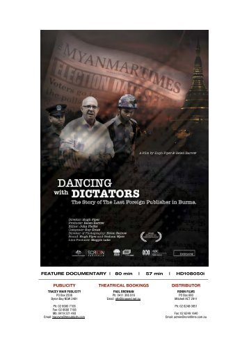 to download DANCING WITH DICTATORS press kit - Ronin Films