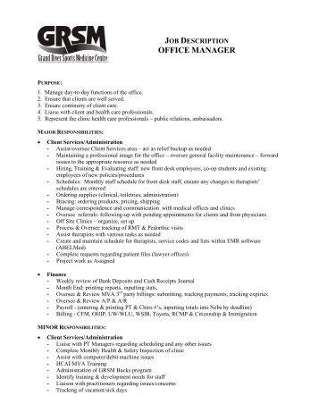 Job description pa to chief executive office manager hqip - Office administration executive job description ...