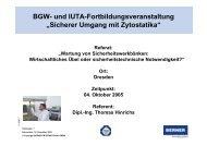Sicherer Umgang mit Zytostatika - BERNER International GmbH