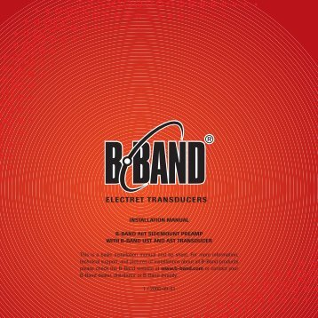 Installation Instructions - B-Band, Inc.