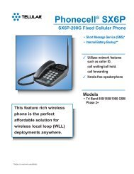 Phonecell® SX6P-200G Fixed Cellular GSM Phone