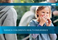 DANICA CHILDREN'S HEALTH INSURANCE - Danica Pension