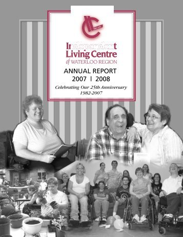 Annual Report 2007-2008 - Independent Living Centre of Waterloo ...