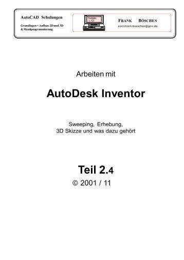 AutoDesk Inventor Teil 2.4 - VHS-DH.de