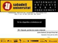 1.- la iniciativa privada en las webs de ciudad - Sabadell Universitat