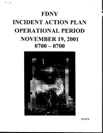 Incident Action Plan - September 11 Digital Archive