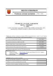 VZN 3 - 2012 o dotácii pre ıkolské zariadenia na ... - Mesto Stropkov