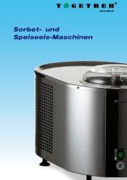 Sorbet- und Speiseeis-Maschinen - Together GmbH