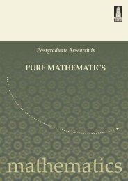PURE MATHEMATICS - School of Mathematics