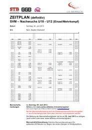 ZEITPLAN (definitiv) SVM – Nachwuchs U18 - U12 (Einzel ... - LA-Bern