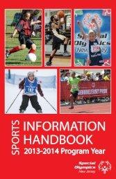 Sports Information Handbook - Special Olympics New Jersey