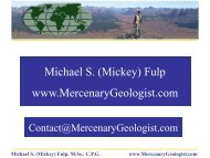 May 14-15, 2012 - Mercenary Geologist