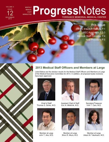 December 2012, Volume 4, Issue 12 - Torrance Memorial Medical ...