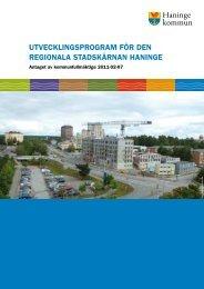 Utvecklingsprogram för den regionala stadskärnan Haninge