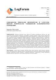 ACTA SCIENTIARUM POLONORUM - LogForum