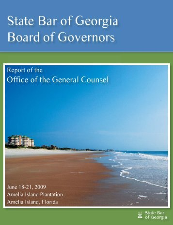 to view the 2008-09 OGC Annual Report. - State Bar of Georgia