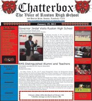 January 2012 Chatterbox - Ruston High School