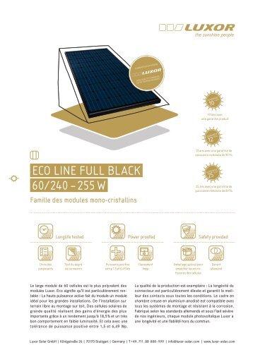 Eco linE Full black 60/240 – 255 W - Luxor Solar