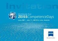 ZEISSCompetenceDays - Carl Zeiss