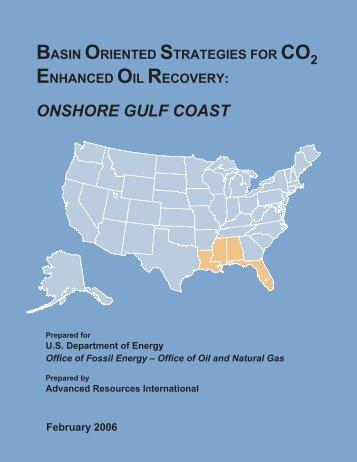 ONSHORE GULF COAST - Advanced Resources International, Inc.