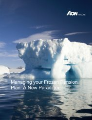 Managing your Frozen Pension Plan: A New Paradigm - Aon